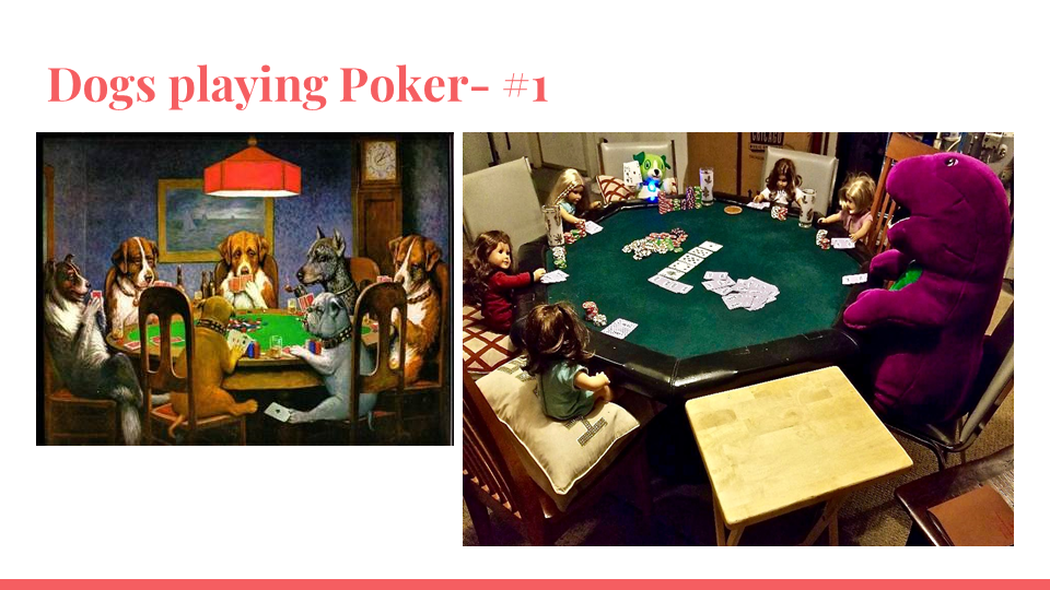 Dogs Playing Poker #1