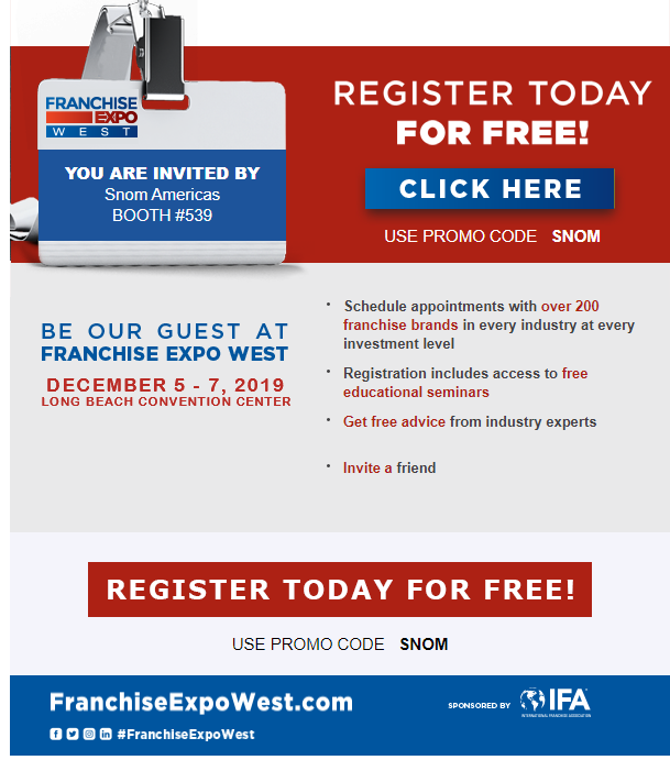 Franchise Expo West_partner registration_Snom Americas