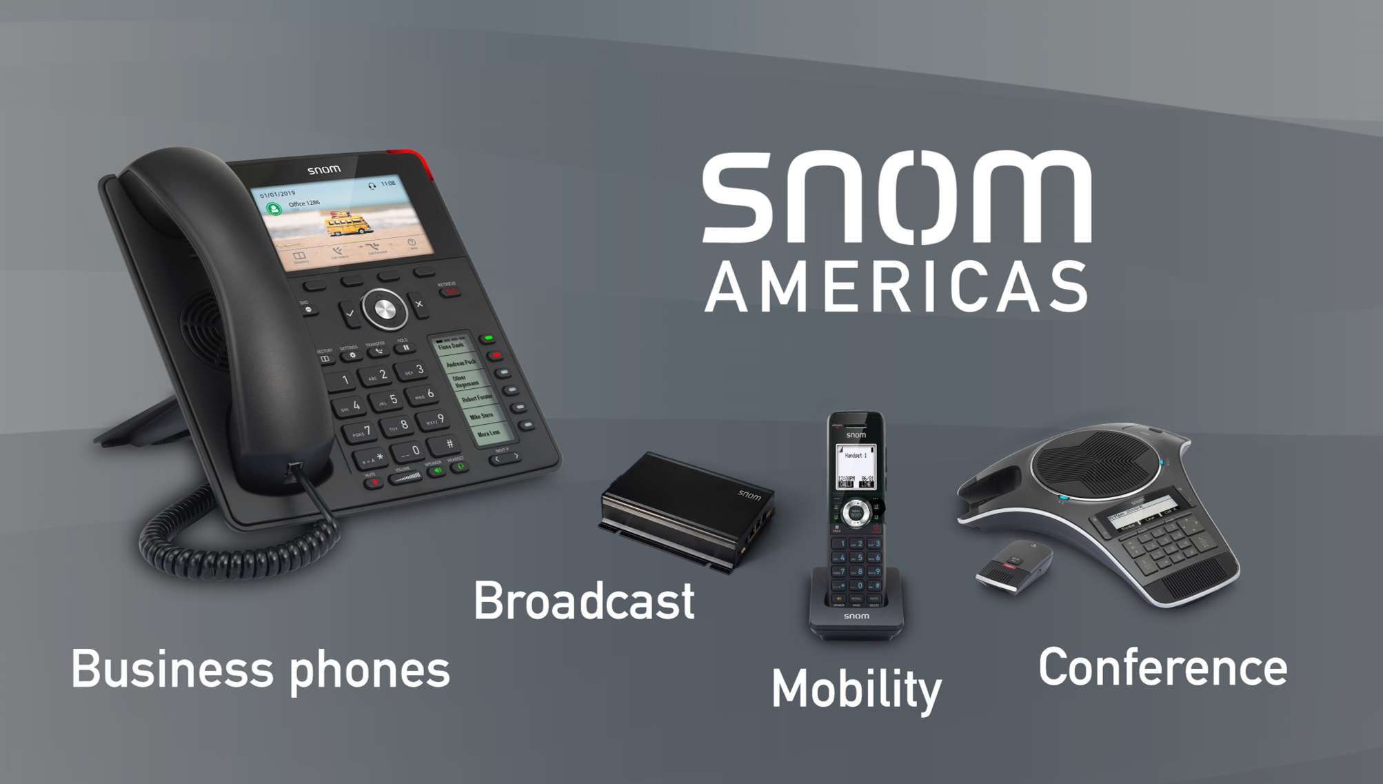 Snom_Business phones_broadcast_mobility_conference